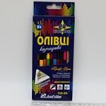 """Цветные карандаши двусторонние """"профи-арт""""12цв"""