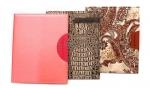 Щоденник кожаный, тканевый красный (А5)