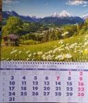 """Календарь квартальный  на пружине """"горы"""""""