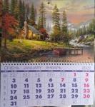 """Календарь квартальный  на пружине """"Домик в лесу"""""""