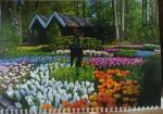 """Календарь  с окошком 1 пружина """"Аллея цветов"""""""