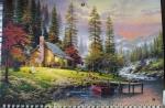 """Календарь  с окошком 1 пружина """"домик в лесу"""""""